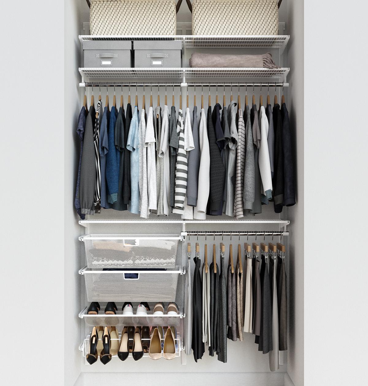 Elfa Classic 4' White Reach-In Closet