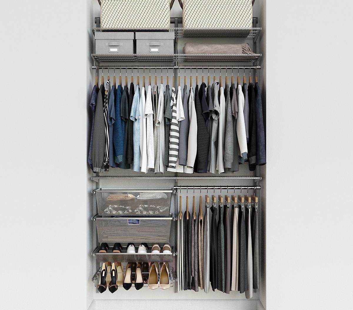 Elfa Classic 4' Platinum Closet