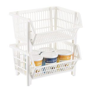 Our White Mini Stackable Basket