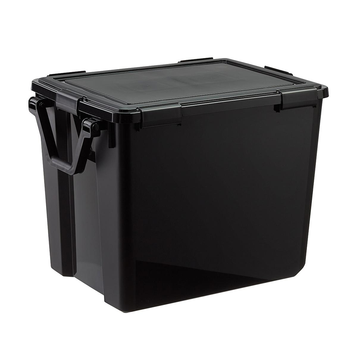 103 qt. Black Weathertight Tote with Wheels