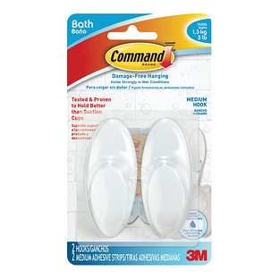 3M Command Clear Medium Bath Hooks