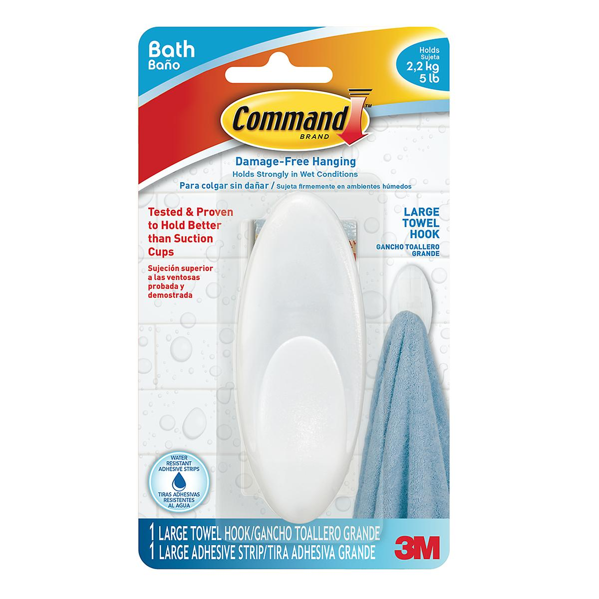 3M Command Clear Large Bath Hook