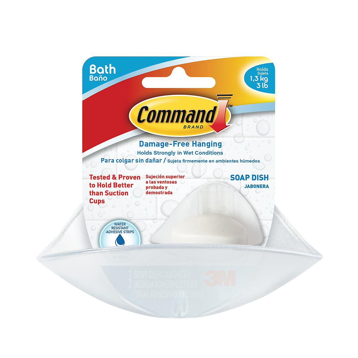 3M Command Clear Soap Dish