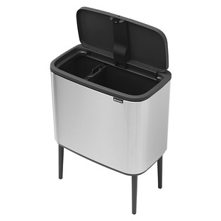 Brabantia Stainless Steel 3 gal./6 gal. Bo Touch Trash Can