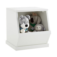 White Nantucket Single Stackable Storage Bin