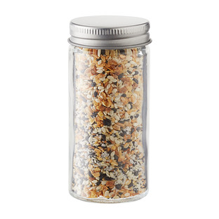 3 oz. Glass Spice Bottle with Chrome Lid