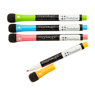 Three by Three Brights Magnetic Dry Erase Markers