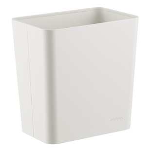 Poppin White Powder-Coated Wastebasket