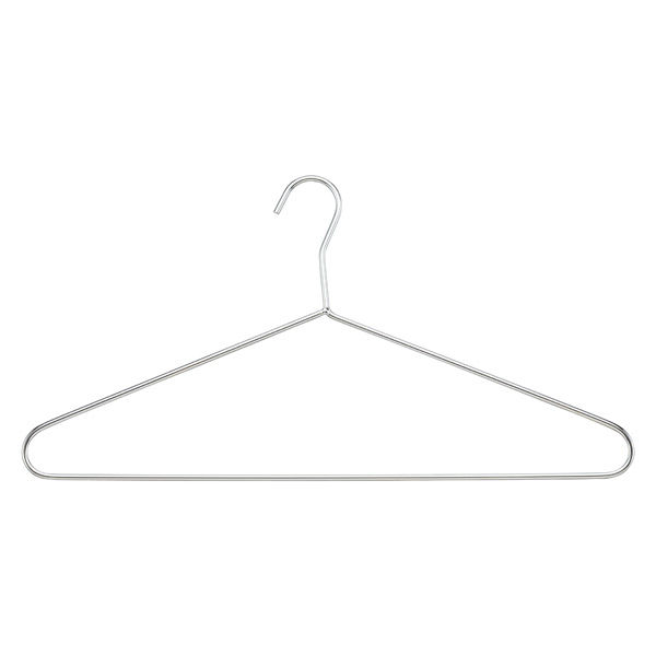 Chrome Metal Hangers Pkg/4