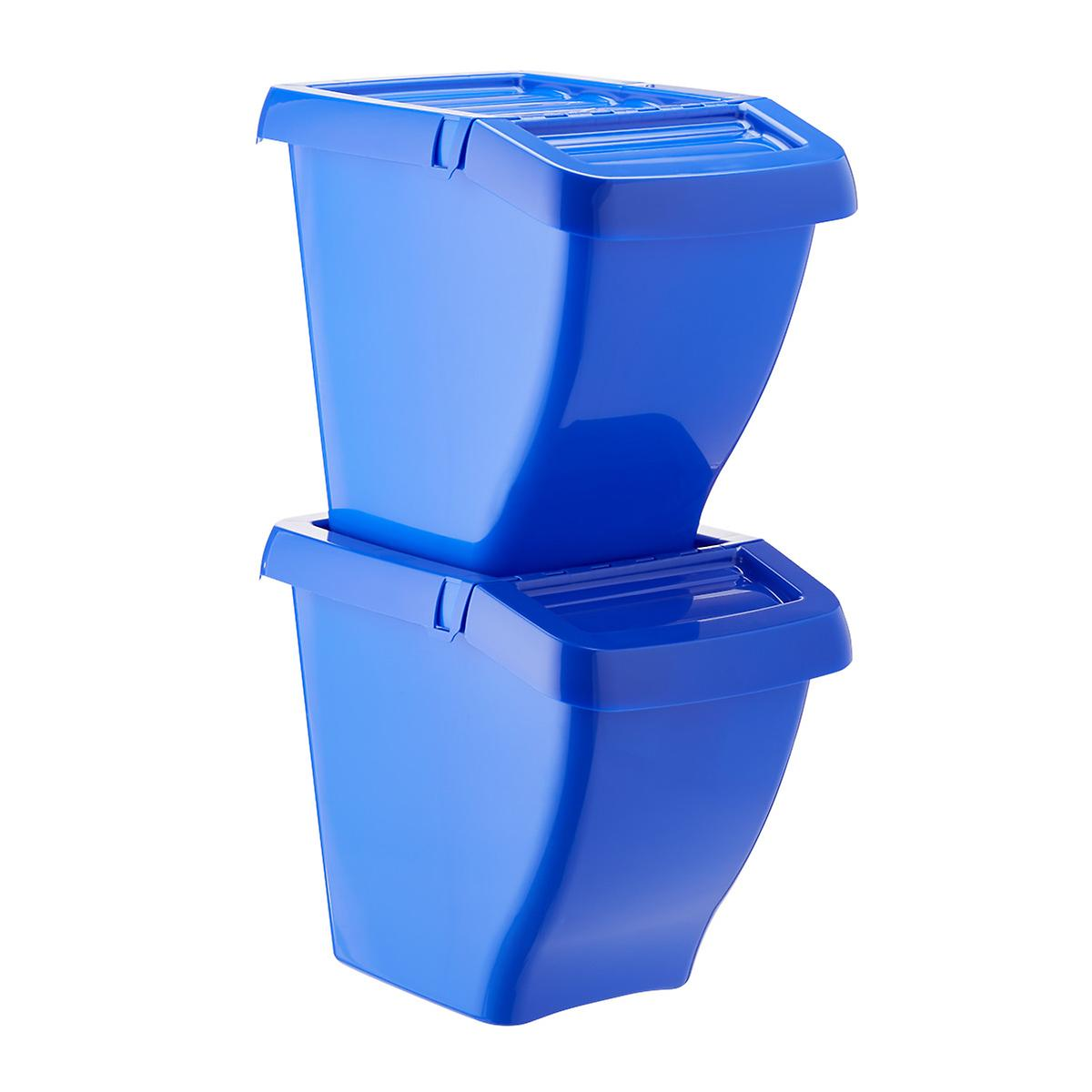 Blue Recycle Bins