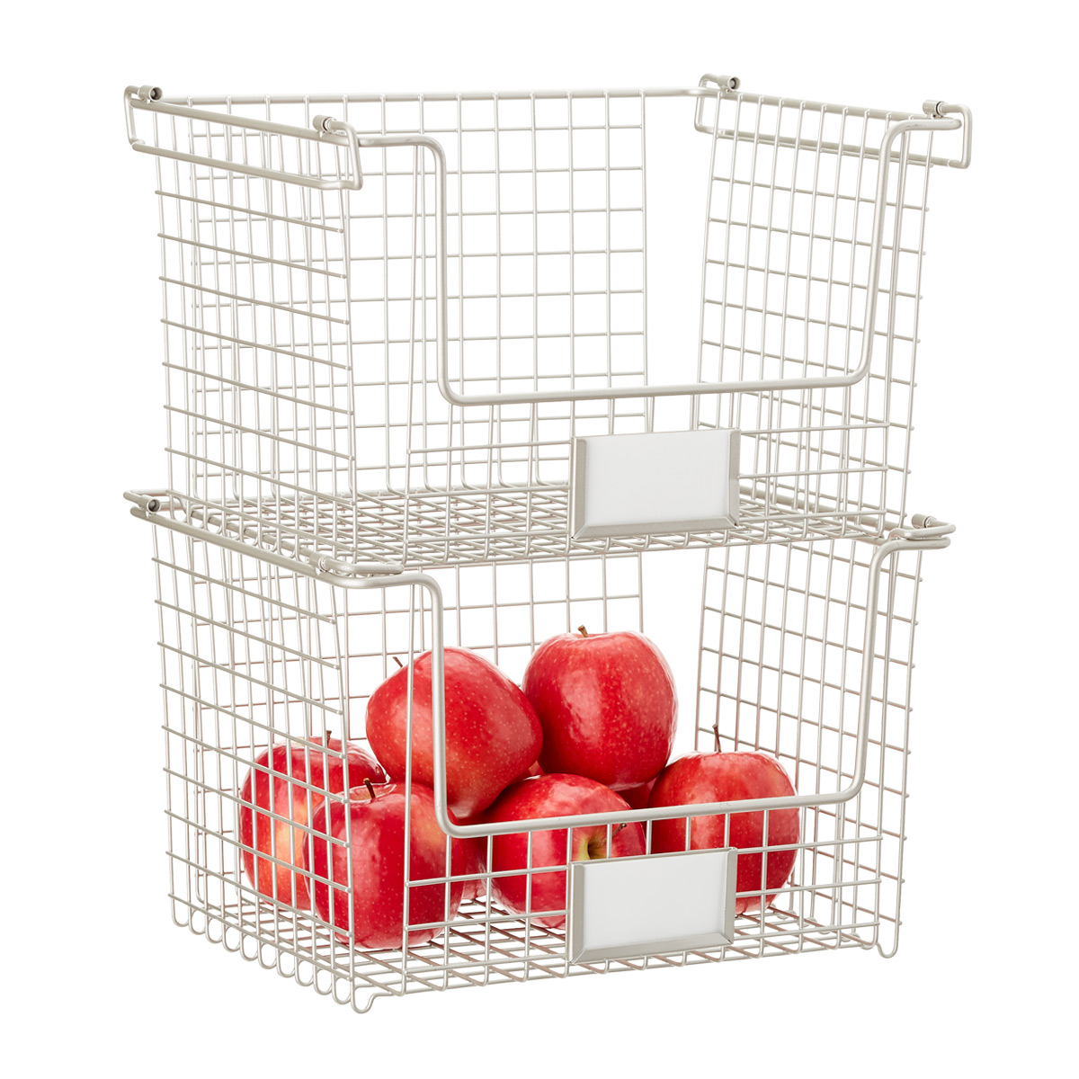 iDesign Nickel Stackable Basket