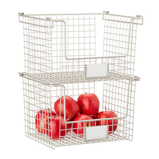 InterDesign Nickel Stackable Basket