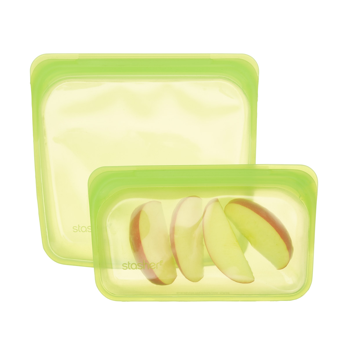 Stasher Silicone Lime Reusable Storage Bag