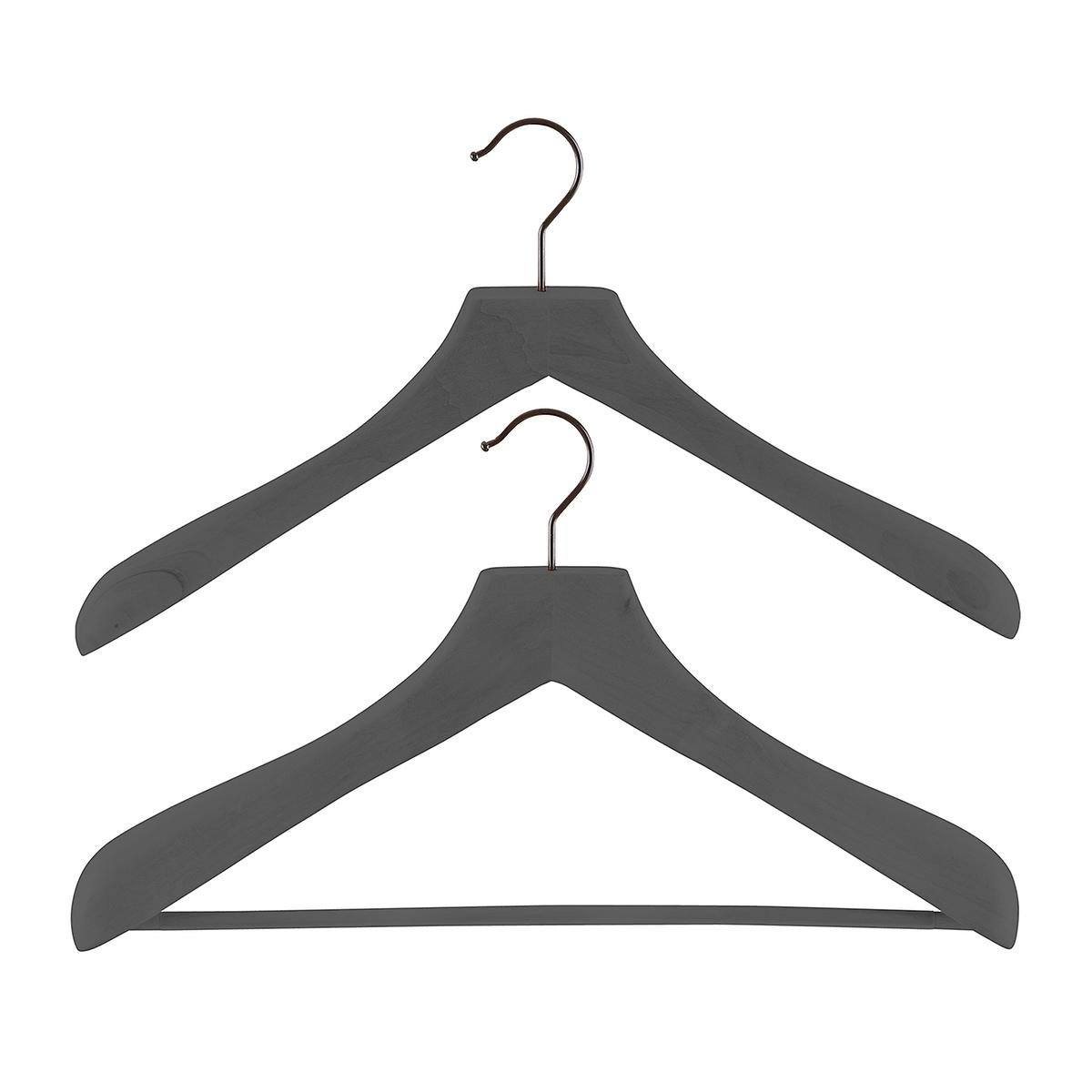 Superior Grey Wooden Coat & Suit Hangers