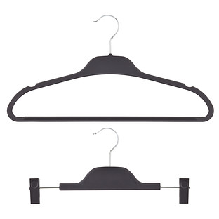 Black Non-Slip Rubberized Hangers
