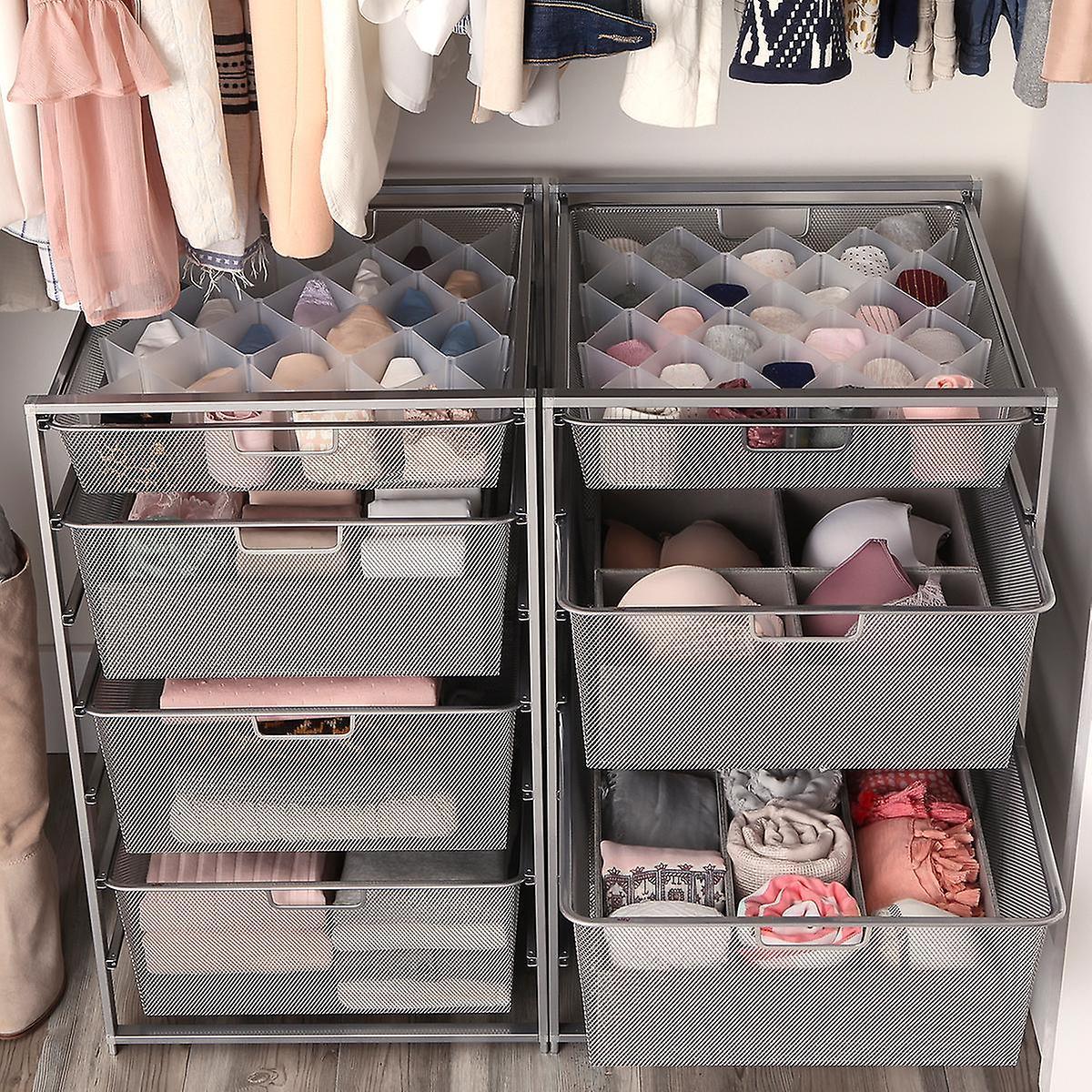 Elfa Platinum Mesh Closet Drawers Starter Kit