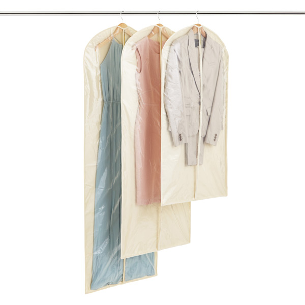 Natural Cotton Peva Single Garment Bags The Container Store