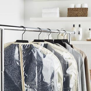 Natural Cotton PEVA Single Garment Bags