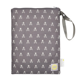 Travel Happens Grey Skulls Wet Bag