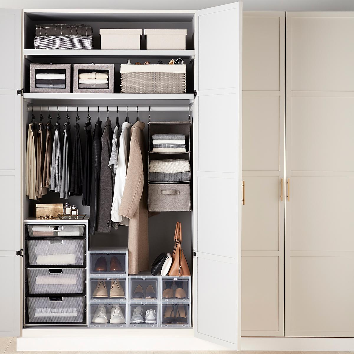 Small Closet Starter Kit with Grey Accessories