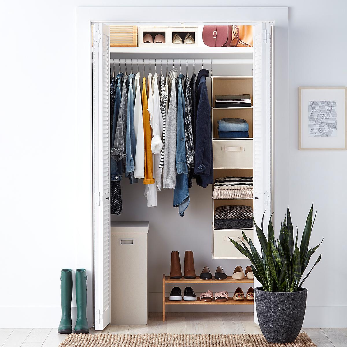 Small Closet Starter Kit with Natural Accessories