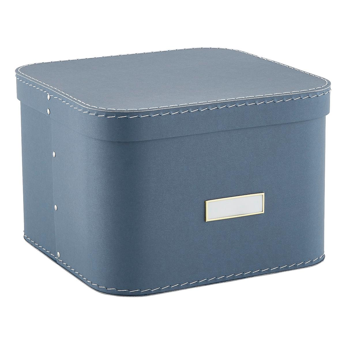 Dusty Blue Oskar Storage Box with Lid