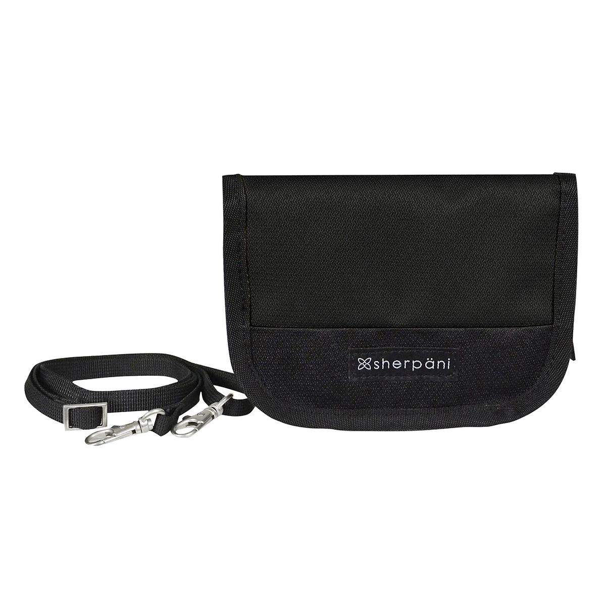 Sherpani Zoe Black Crossbody Wallet