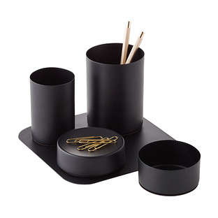 Design Ideas Matte Black Magnetic Desk Set