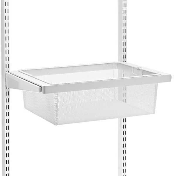 White Elfa Décor Drawer Frame