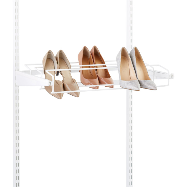 White Elfa Gliding Shoe Racks