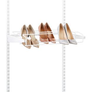 White Elfa Gliding Shoe Racks
