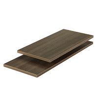 Brown Melamine Shelves & Brown Shelf Brackets | The Container Store
