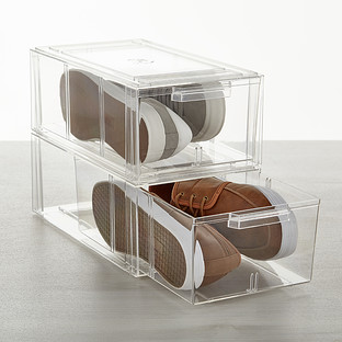 Clear Stackable Large Shoe Drawer