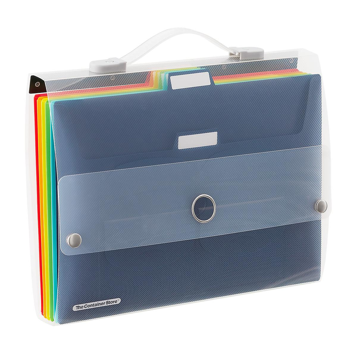 Multi-Color Cascading 6-Pocket Letter File Wall Organizer