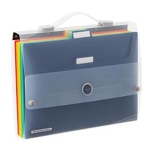 Multi-Color Cascading 6-Pocket Letter File Wall Organizer