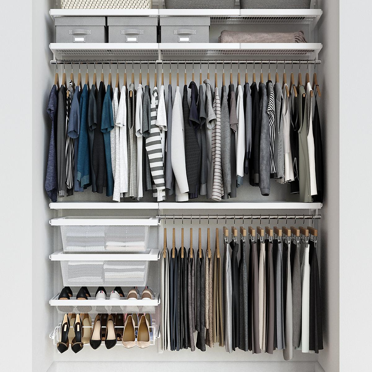 Elfa Décor 5' White Reach-In Closet