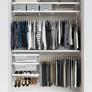 Elfa Décor 5' White & White Reach-In Closet