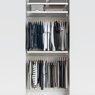 Elfa Décor 3' White & White Reach-In Closet