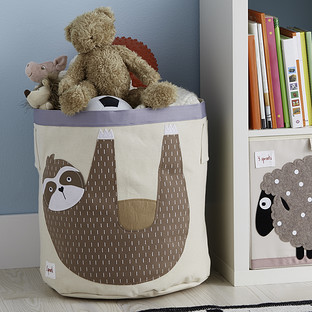 3 Sprouts Sloth Canvas Toy Storage Bin