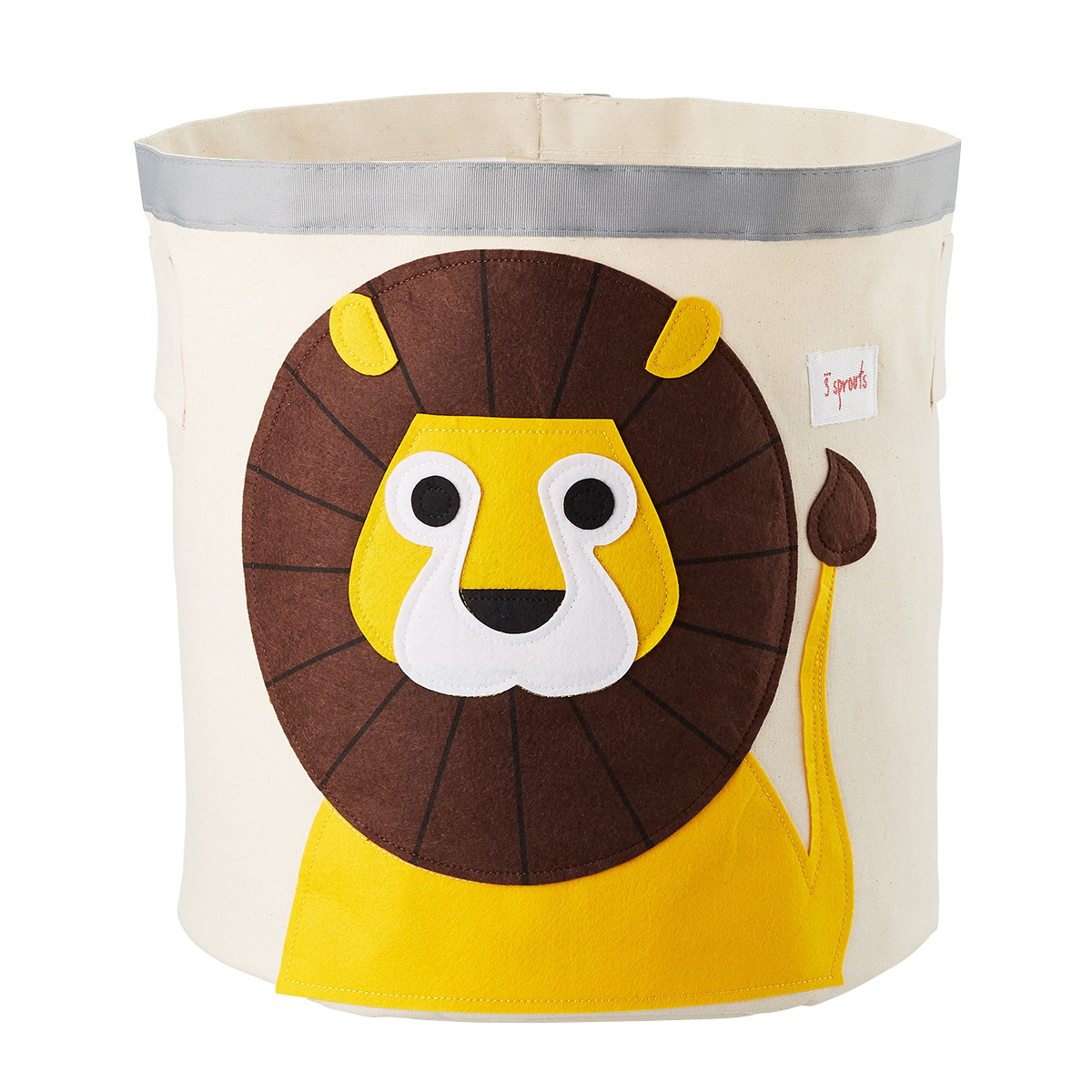 3 Sprouts Lion Canvas Toy Storage Bin