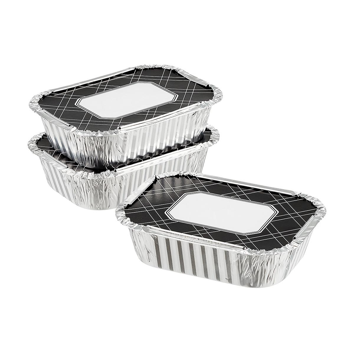 2 lb. Foil Baking Pan with Black Lid