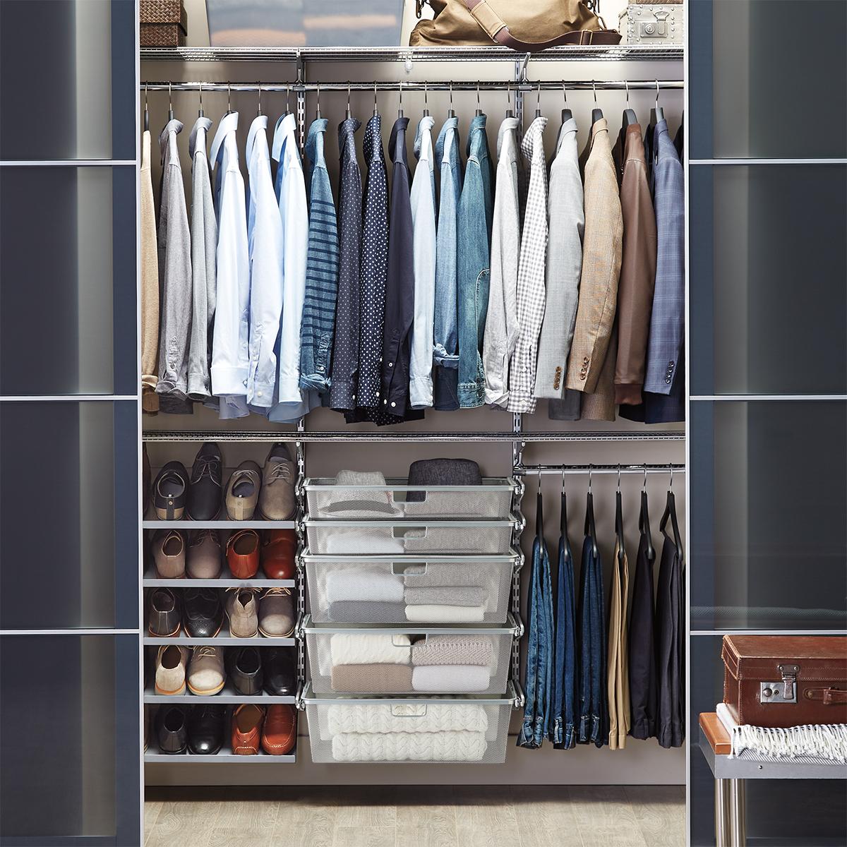 Elfa Classic 6' Platinum Reach-In Closet