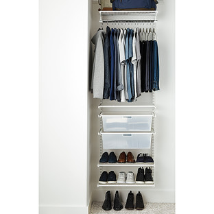 Elfa Classic 2' White Small Reach-In Closet