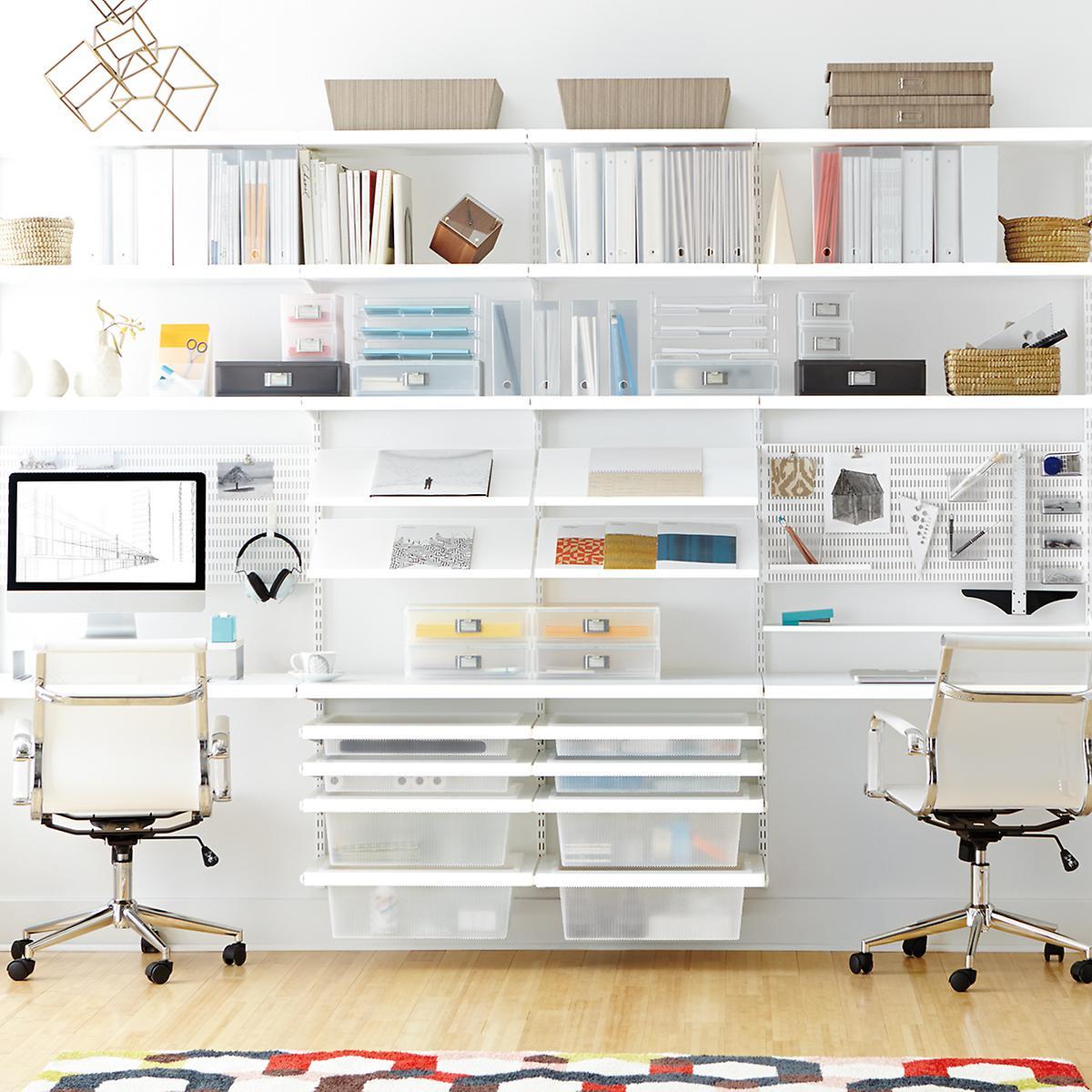 White Elfa Décor Office