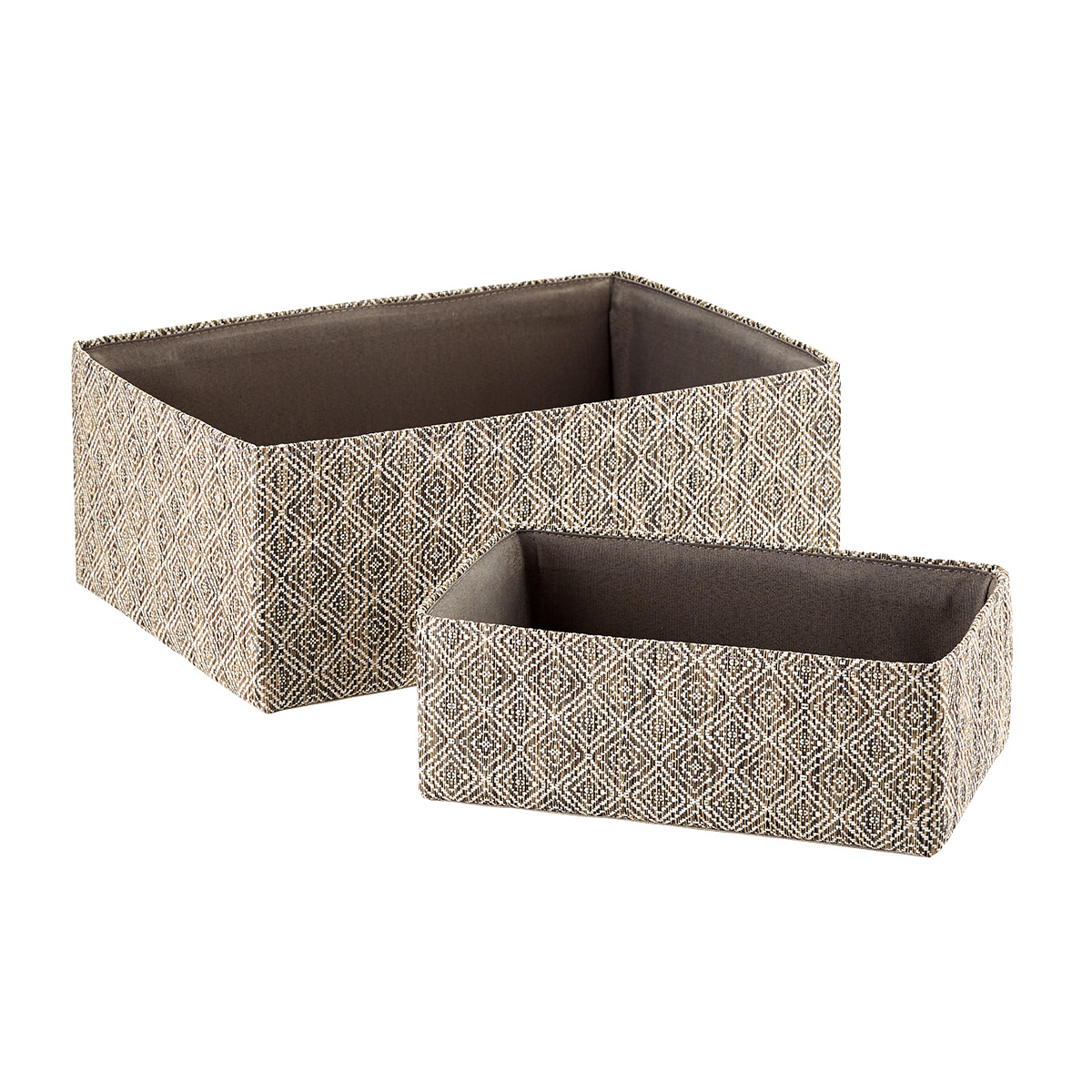 Diamonds Woven Kiva Storage Bins