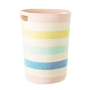Striped Cotton Rope Laundry Hamper