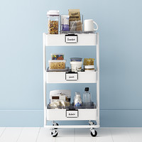 College Kitchen 3-Tier Rolling Cart Starter Kit