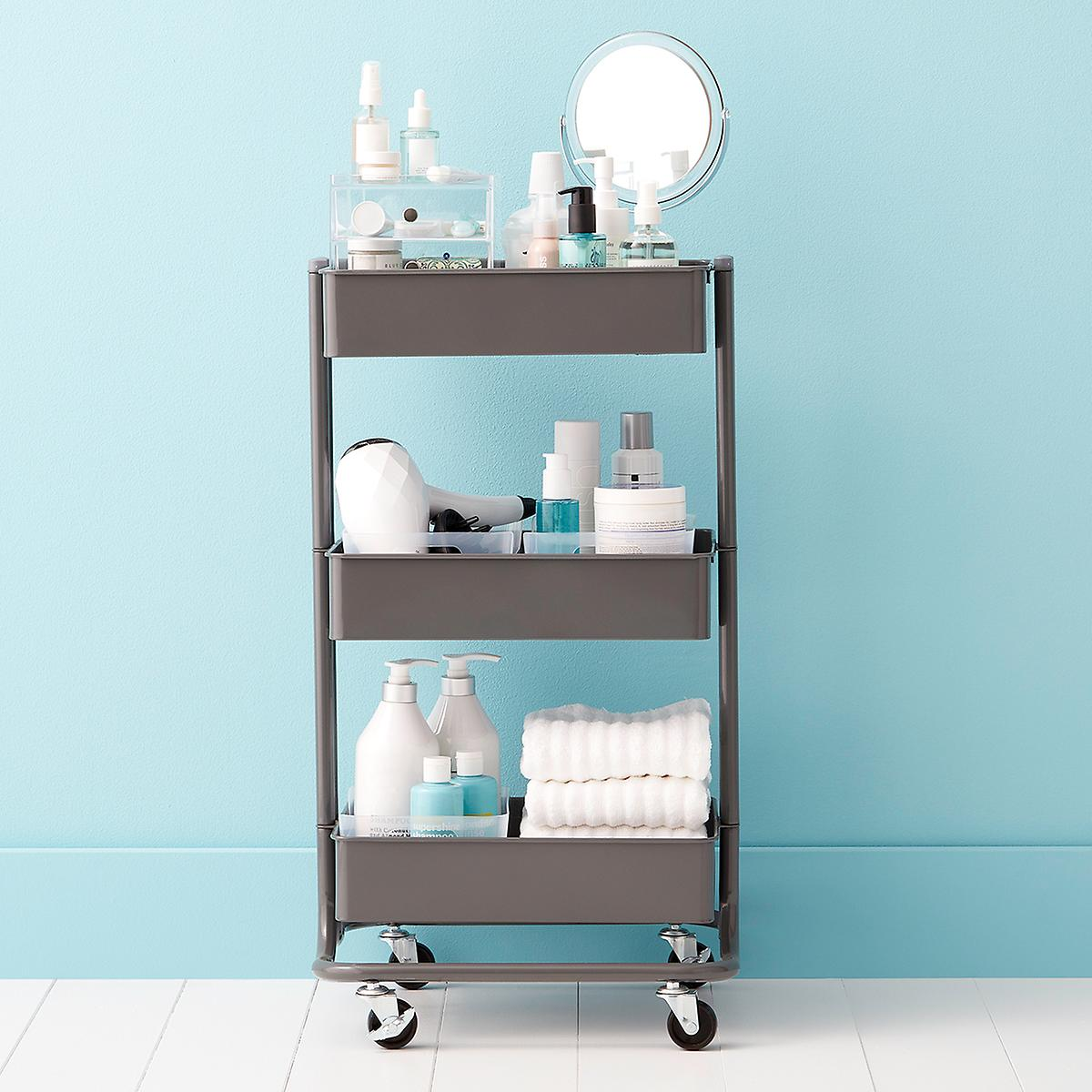 College Bath 3-Tier Rolling Cart Starter Kit