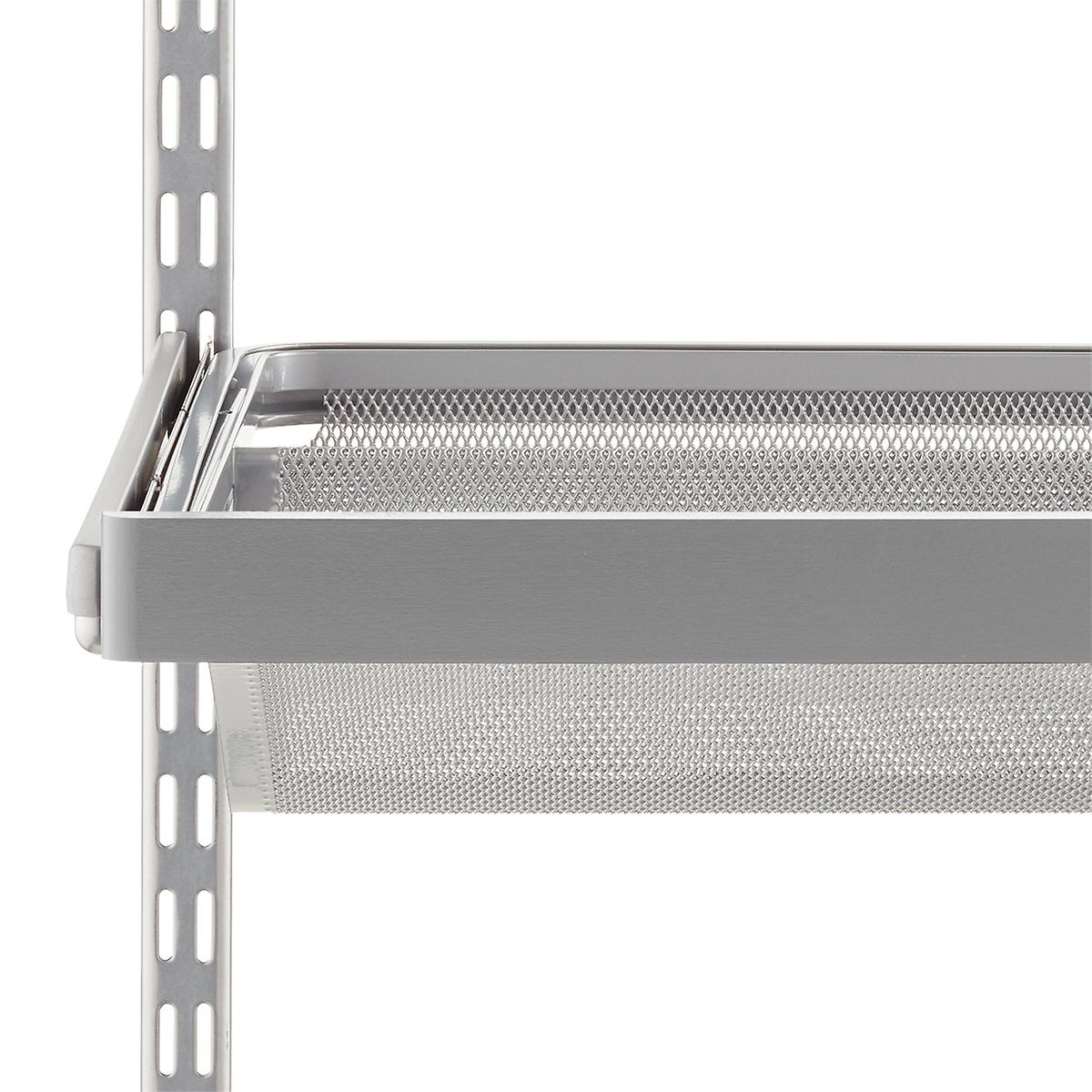 Grey Elfa Décor Gliding Shelf Fascia