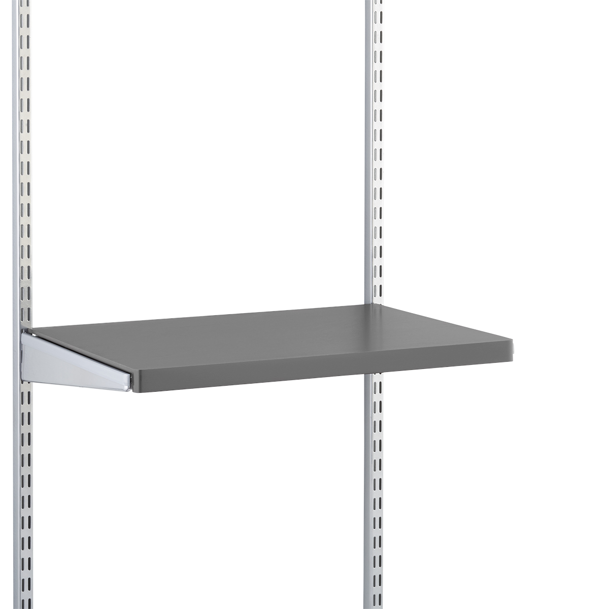 Grey Elfa Décor Gliding Shelf